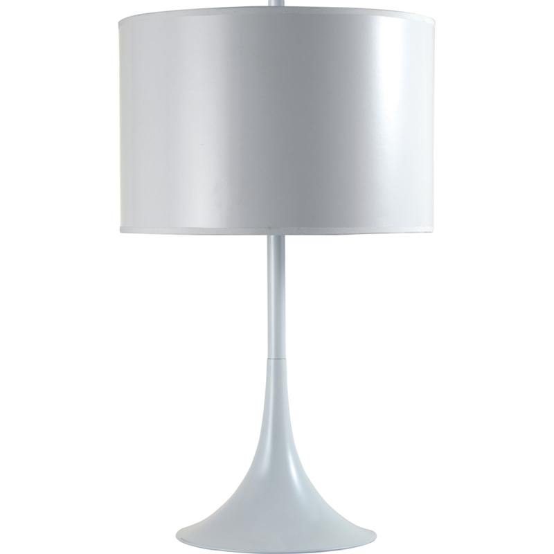 White Table Lamps : White Metal Table Lamp
