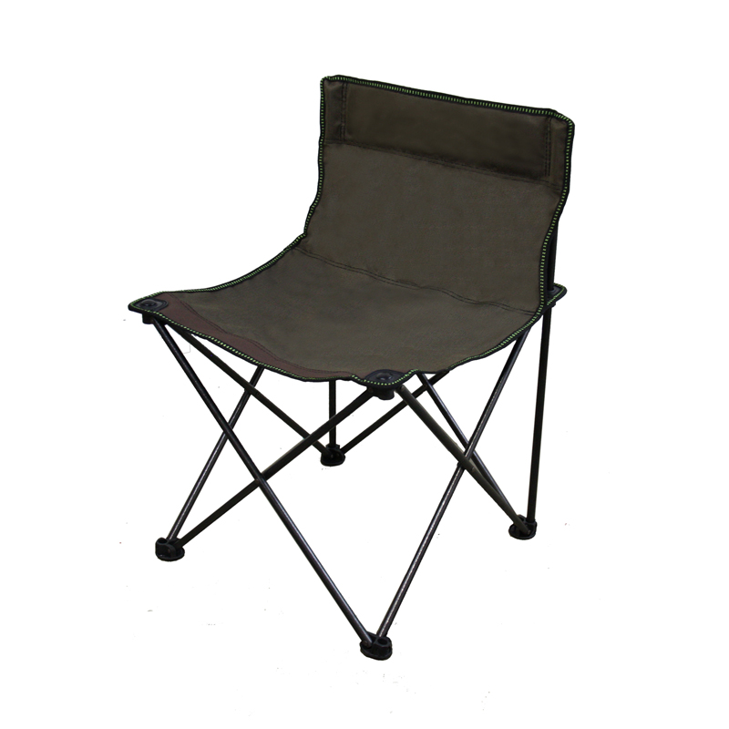 13″H Portable Armless Folding Brown Chair