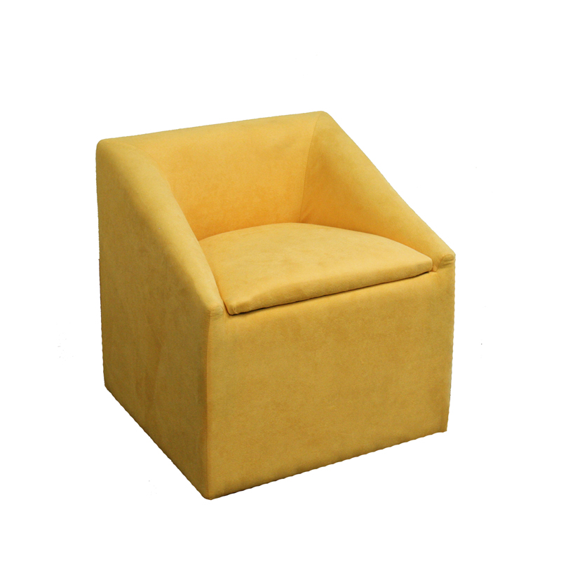 20 75″H Yellow Accent Chair w Storage
