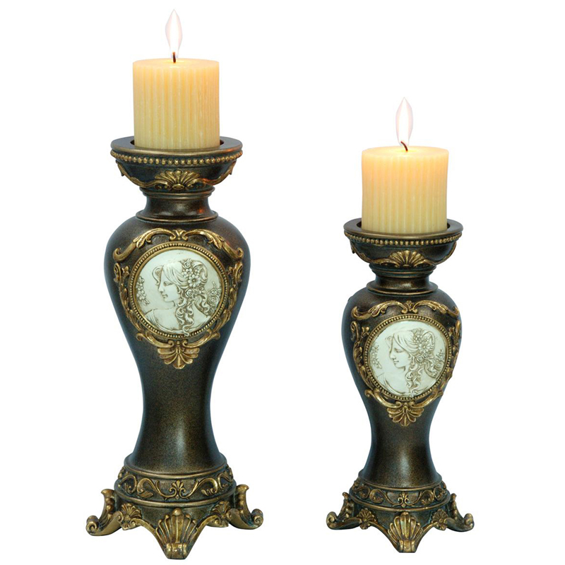 1411H Handcrafted Bronze Decorative Candle Holder