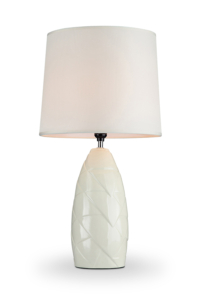 25 In Amala Ivory Ceramic Table Lamp