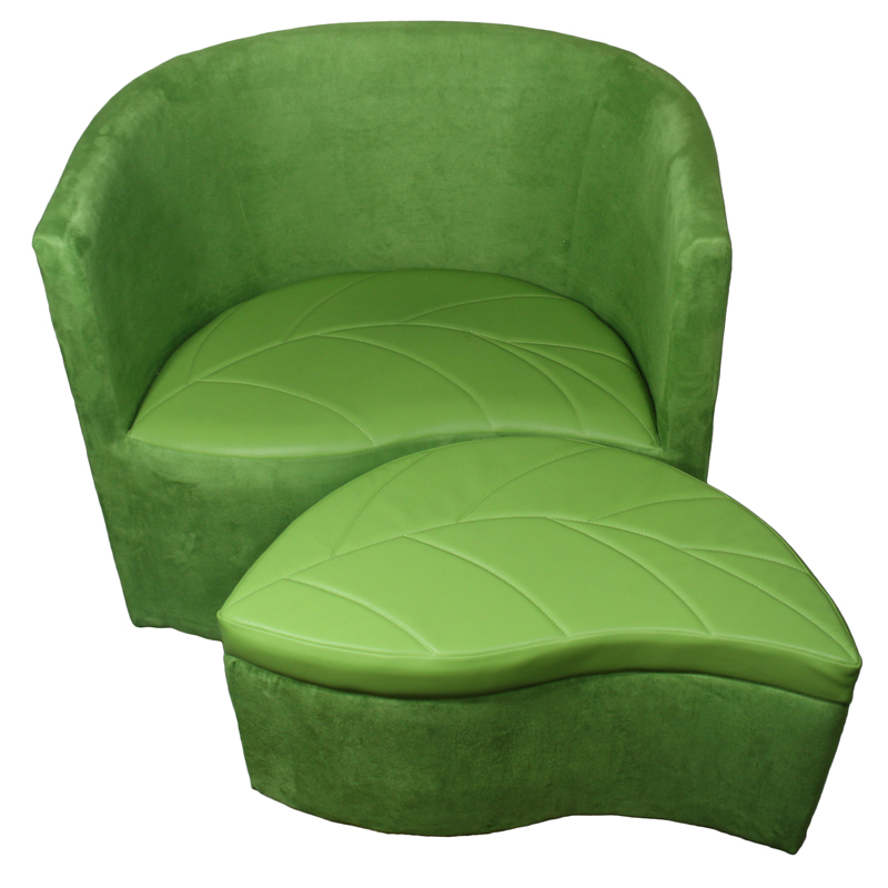 Sensational 29H Green Suede Accent Chair W Storage Ottoman Ocoug Best Dining Table And Chair Ideas Images Ocougorg