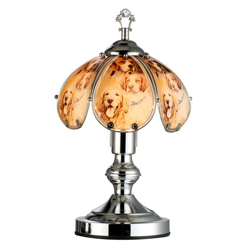 14 25 H Loyal Dogs Touch Lamp