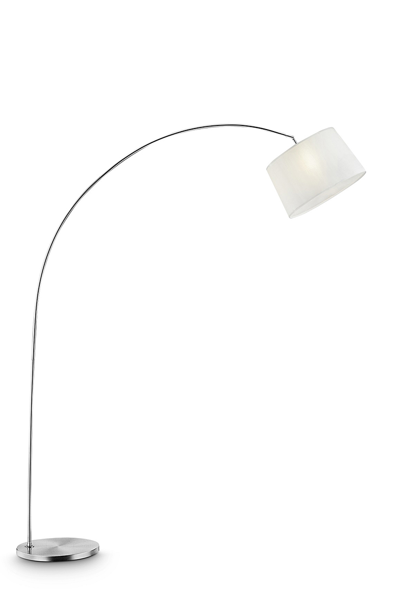 84 5 In Oma Brushed Nickel Arch Floor Lamp