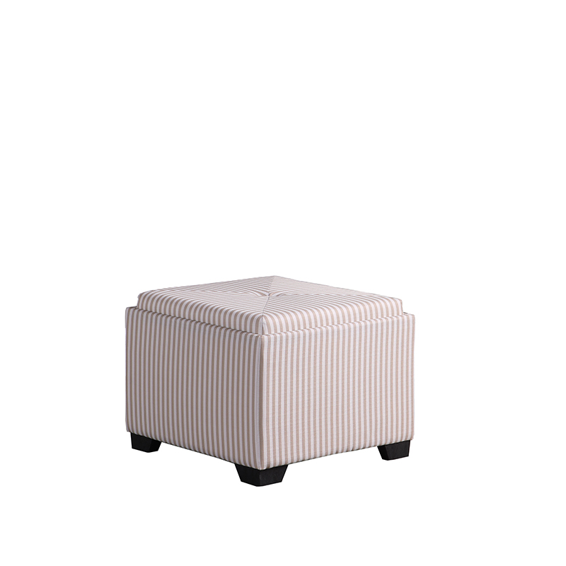 17 5 In Yellow And Gray Stripes Single Tufted Storage Ottoman