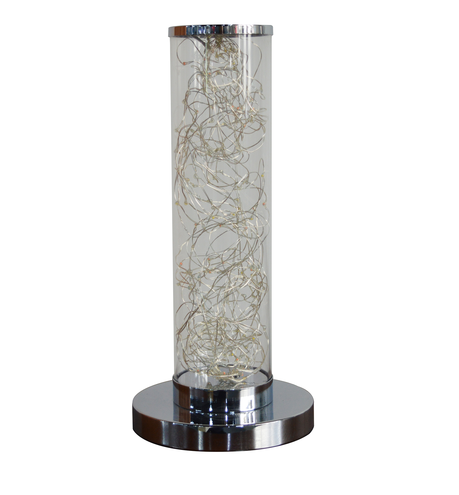 Picture of: 13 In Exposed Rope Led Minari Clear Column Floor Lamp