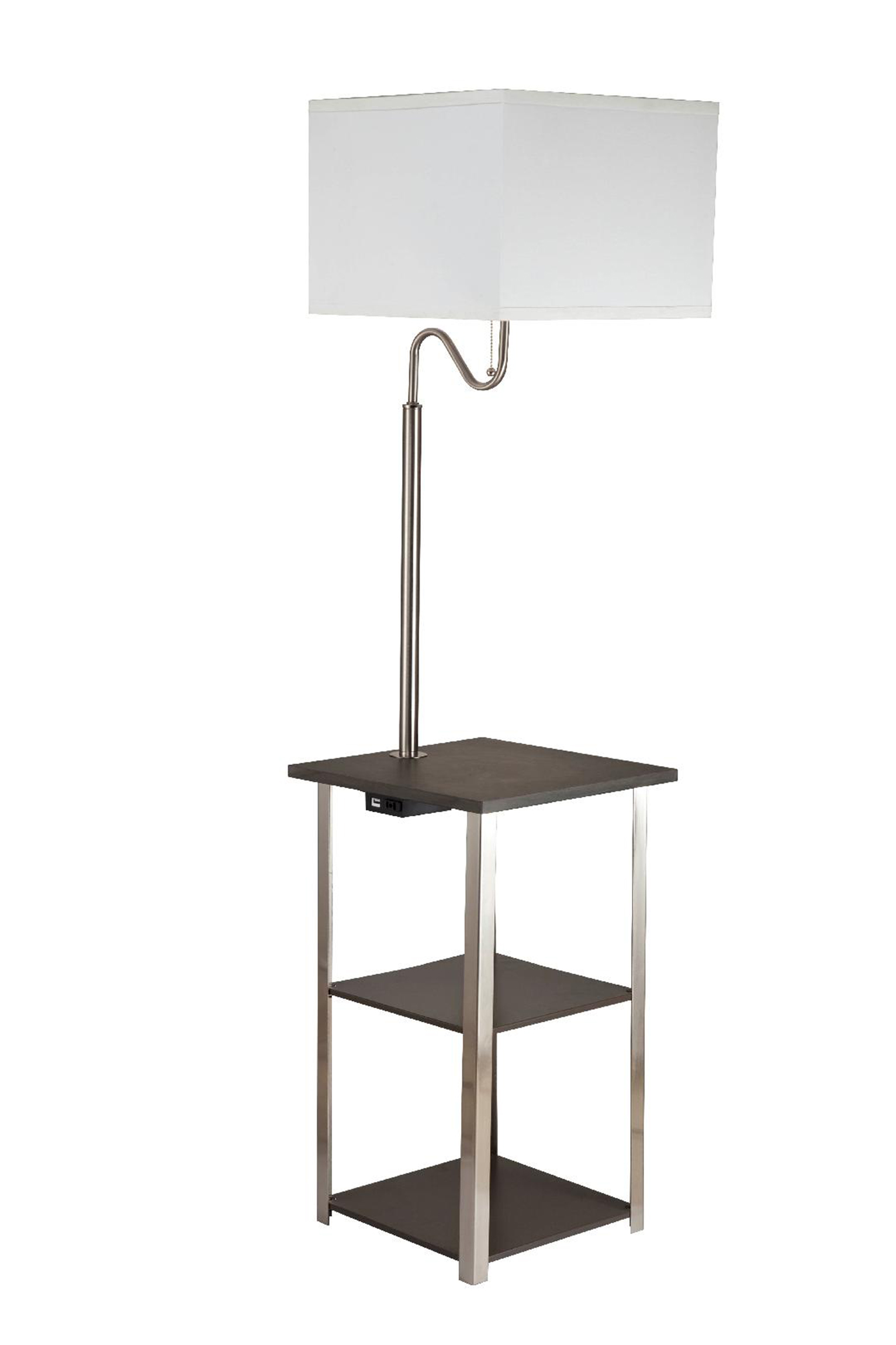Brush Silver Floor Lamp