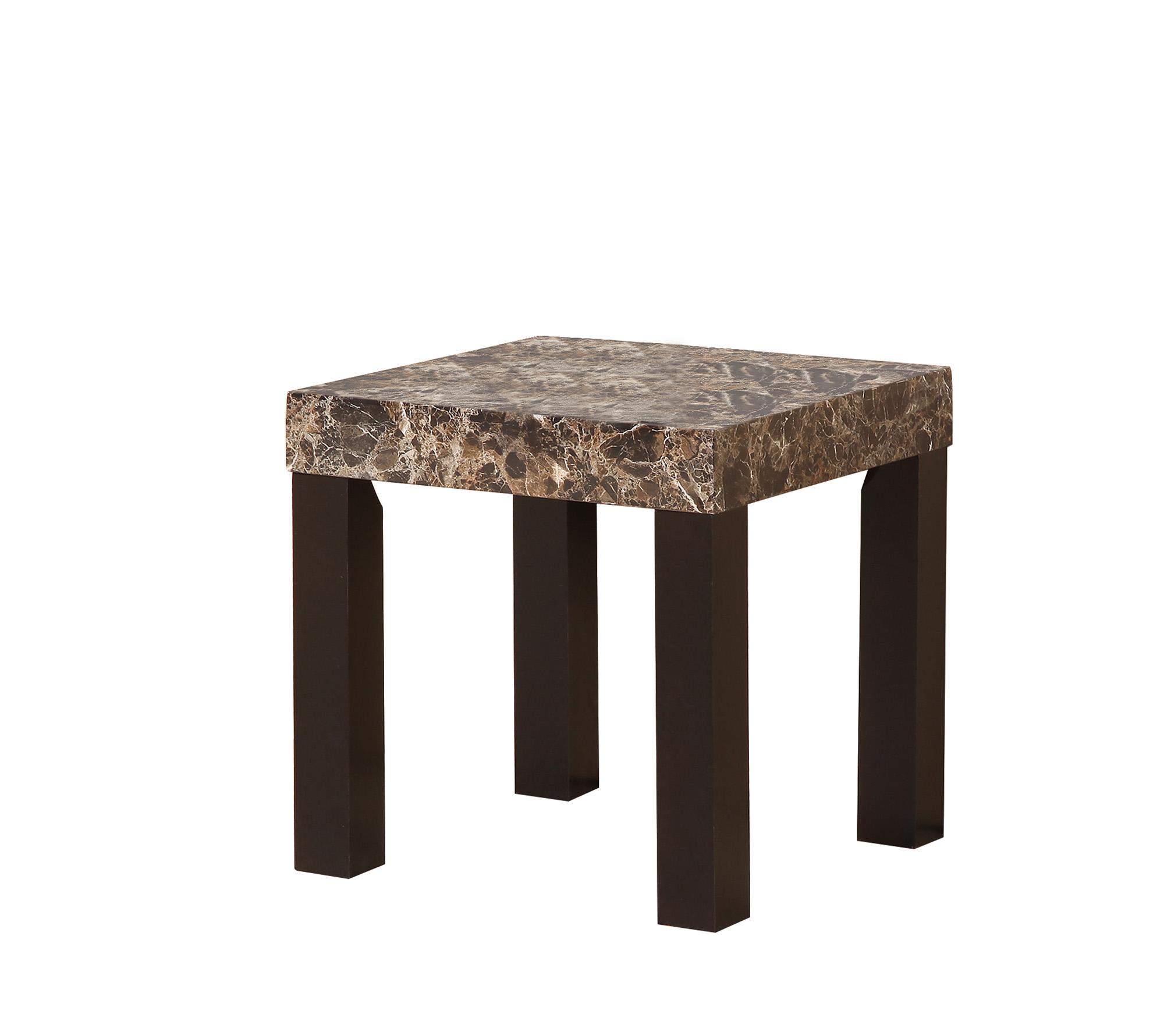 21 5 In Dark Marnee Faux Marbelized Granite Side End Table